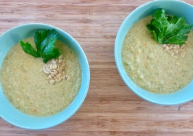 The Mat Movement luxury yoga retreats; peanut and celery soup.