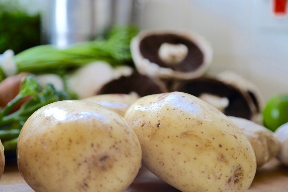 Potatoes and other vegetables.