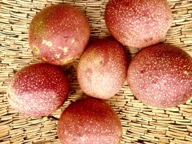 Passion fruits in a bowl. The Mat Movement luxury yoga retreats, online yoga classes and inspiring pant-based recipes.