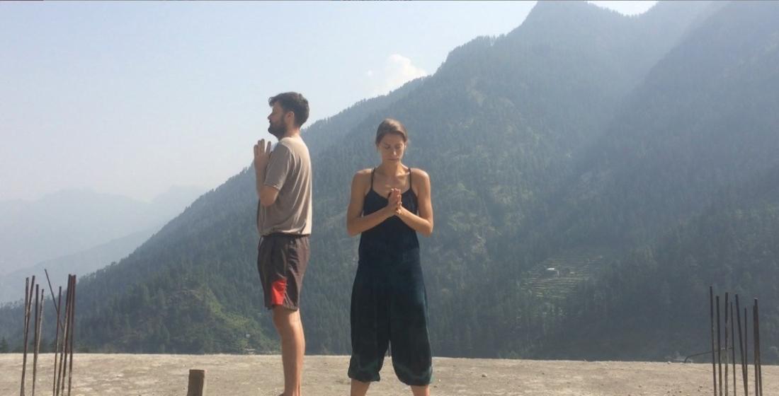 Himlayan yoga practice.