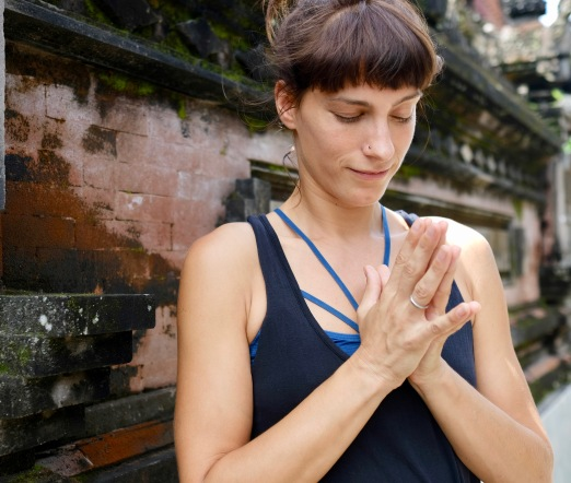 The Mat Movement luxury yoga retreats; Collette Davis in Ubud, Bali.