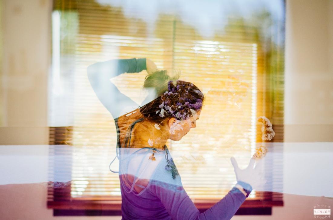 The Mat Movement luxury yoga retreats; Collette Davis leads a yoga class.