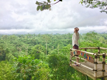 The Mat Movement luxury yoga retreats and inspiring vegetarian and vegan food. Peter Boydell looks out over Bali from Manik Abian.